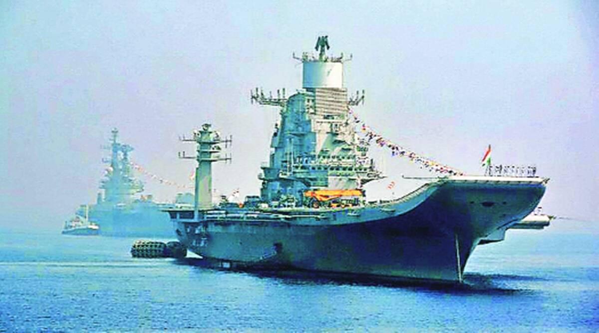 indian navy, Admiral Karambir Singh, indian navy chief, indian navy aircraft carrier, INS Vikramaditya, indian express news