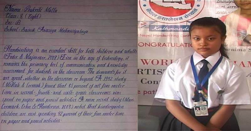 Best Handwriting in the world